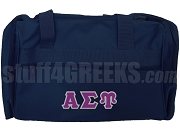 Alpha Sigma Upsilon Duffel Bag, Navy Blue