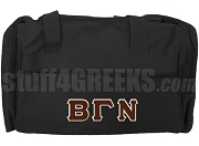 Beta Gamma Nu Duffel Bag, Black