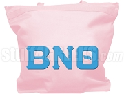 Beta Nu Theta Tote Bag with Greek Letters, Pink