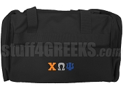 Chi Omega Psi Duffel Bag, Black