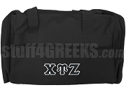 Chi Upsilon Zeta Duffel Bag, Black