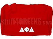 Delta Phi Delta Greek Letter Duffel Bag, Red