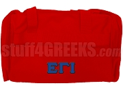 Epsilon Gamma Iota Duffel Bag, Red
