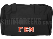 Gamma Epsilon Mu Duffel Bag, Black