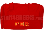 Gamma Epsilon Omega Duffel Bag, Red