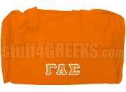 Gamma Lambda Sigma Duffel Bag, Orange