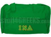 Iota Nu Delta Duffel Bag, Kelly Green