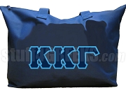 Kappa Kappa Gamma Tote Bag with Greek Letters, Navy Blue