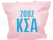 Kappa Sigma Alpha Tote Bag with Greek Letters and Founding Year, Pink