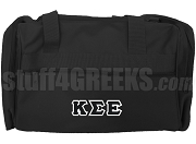 Kappa Sigma Epsilon Greek Letter Duffel Bag, Black