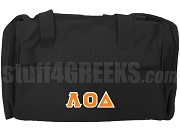 Lambda Omicron Delta Greek Letter Duffel Bag, Black