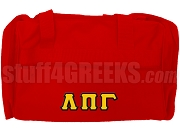 Lambda Pi Gamma Duffel Bag, Red