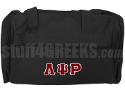 Lambda Psi Rho Greek Letter Duffel Bag, Black