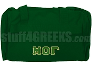 Mu Omicron Gamma Duffel Bag, Forest Green