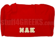 Nu Alpha Kappa Duffel Bag, Red