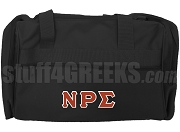 Nu Rho Sigma Duffel Bag, Black