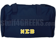 Nu Sigma Beta Duffel Bag, Navy Blue