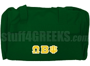 Omega Beta Psi Duffel Bag, Forest Green