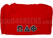 Omega Delta Phi Duffel Bag, Red