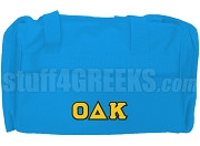 Omicron Delta Kappa Greek Letter Duffel Bag, Light Blue