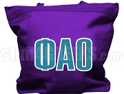Phi Alpha Omicron Tote Bag with Greek Letters, Purple
