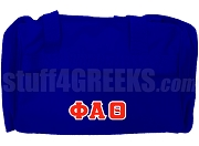 Phi Alpha Theta Greek Letter Duffel Bag, Royal Blue