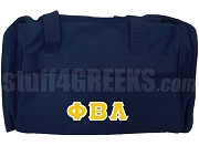 Phi Beta Lambda Greek Letter Duffel Bag, Navy Blue