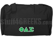 Phi Delta Sigma Greek Letter Duffel Bag, Black