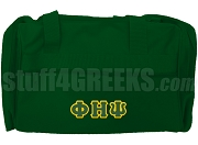 Phi Eta Psi Greek Letter Duffel Bag, Forest Green