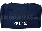 Phi Gamma Sigma Greek Letter Duffel Bag, Navy Blue