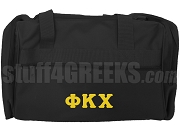 Phi Kappa Chi Greek Letter Duffel Bag, Black