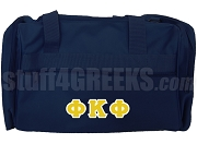 Phi Kappa Phi Greek Letter Duffel Bag, Navy Blue