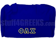 Phi Lambda Chi Greek Letter Duffel Bag, Royal Blue
