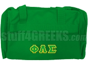 Phi Lambda Sigma Greek Letter Duffel Bag, Kelly Green