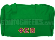 Phi Sigma Theta Greek Letter Duffel Bag, Kelly Green