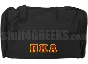 Pi Kappa Alpha Duffel Bag with Greek Letters, Black