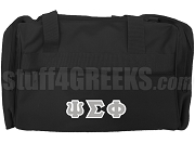 Psi Sigma Phi Greek Letter Duffel Bag, Black