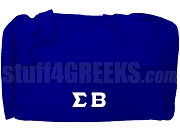 Sigma Beta Club Greek Letter Duffel Bag, Royal Blue