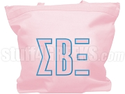 Sigma Beta Xi Tote Bag with Greek Letters, Pink