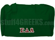 Sigma Delta Alpha Greek Letter Duffel Bag, Forest Green