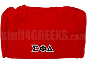 Sigma Phi Delta Greek Letter Duffel Bag, Red