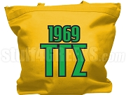 Tau Gamma Sigma Tote Bag with Greek Letters and Founding Year, Gold
