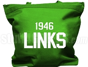 The Links Tote Bag with Organization Name and Founding Year,  Kelly Green