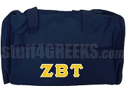 Zeta Beta Tau Duffel Bag, Navy Blue