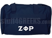 Zeta Phi Rho Duffel Bag, Navy Blue