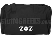 Zeta Phi Zeta Greek Letter Duffel Bag, Black
