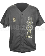 Alpha Phi Alpha Black Baseball Jersey with Letters and Crest (AG)