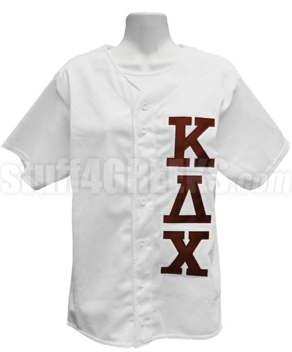 43db682a74 Kappa Delta Chi Greek Letter Baseball Jersey, White