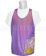 Omega Psi Phi Mesh Basketball Jersey with Bulldog, Purple