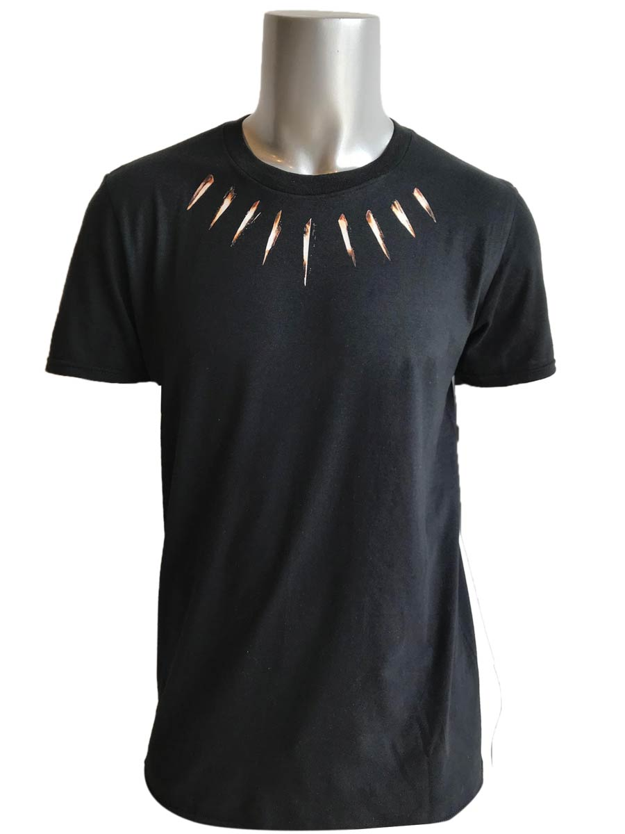 Black Panther Neck Piece Inspired Screen Printed T Shirt Black